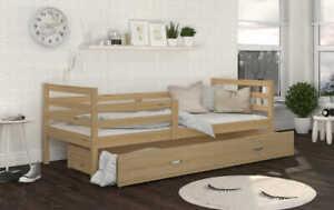 Kinderbett 80x160 Bett JACKY P Jugendbett Kiefer Schublade