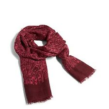 Vera Bradley Soft Wool Scarf ~ Kiev Bohemian Forest ~ scarf NWT Raspberry/Pink