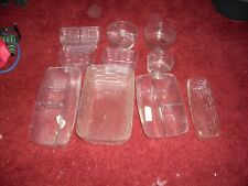 Longaberger Plastic Liners Inserts Lot Of 10 Small To Medium Size