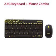 Logitech Laptop 1000dpi Wireless Keyboard Spill-proof for Computer PC +Mouse Kit