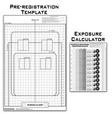 Pre-Registration Template Transparency & Exposure Calculator  Screen Printing