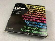 KALIMAR 49mm PL Polar Polarizer Lens Filter and Carrying Case
