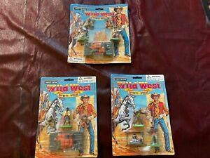 1990s MOC BRITAINS Wild West COWBOYS & INDIANS 1/32 PLAYSET FIGURES (3 SETS) S13