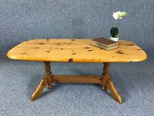 Pine Coffee Table Occasional Table Twin Pedestal - Delivery Available **