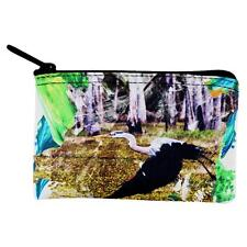 Great Blue Heron Abstract Paint Coin Purse