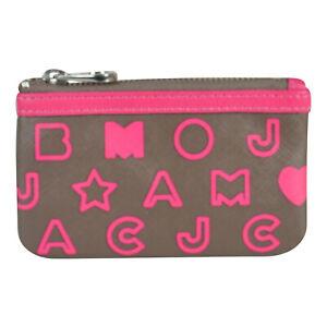 NWT Marc by Marc Jacobs Dreamy Logo Eazy Mini Skinny Coin Key Pouch Bag Hazelnut