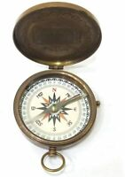 American Compass Antique Vintage Brass Compass