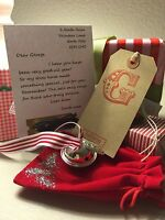 Personalised Polar Express Christmas LG 50mm Bell stocking filler POUCH BOX TAGS
