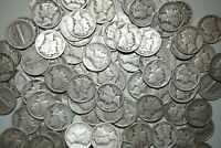 Lot of 25 MERCURY DIMES 90% Silver Coins Random Dates Shipping Discount #MDR5