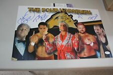 WWF/WWE/WCW THE FOUR HORSEMEN SIGNED 11x17 POSTER ARN,TULLY, JJ,BARRY, FLAIR JSA