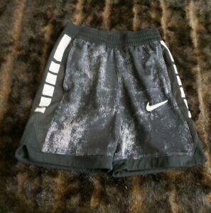 Nike Dri-Fit Youth Boys Small Athletic Basketball Shorts Black White