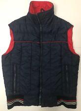 Vtg Woolrich Men's M Blue And Red Puffer Vest Jacket 70's Rockabilly
