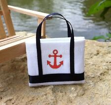 "Dollhouse Miniature Nautical Anchor Tote Bag Beach Lake Camping 1"" Scale 1:12"