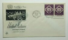 1951 FDC United Nations First Day of Issue New York Postmark Artcraft  2-2 Cent