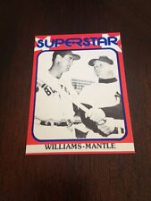 1982 Mickey Mantle Red Border Superstar Card #89 Nr/mt/mt