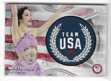 2018 TOPPS OLYMPICS MERYL DAVIS TEAM USA MEMORABILIA CARD /50 ~ FIGURE SKATING