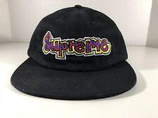 Supreme SS18 Gonz Logo 6-Panel hat camp box cap hoodie tee logo Black
