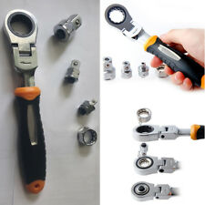 """Adjustable Ratchet Wrench 1/4"""" 3/8"""" 1/2"""" Socket Adapter Spanner Auto Repair Tool"""