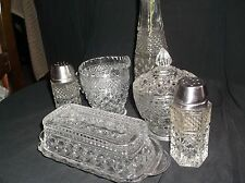 Vintage 8 Pc.Wexford Tablemates butter, creamer, sugar. shakers, and bud vase