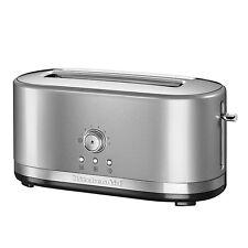 A KitchenAid Manual Control Long Slot 2-SliceToaster, Contour Silver RRP £159.95
