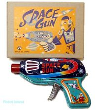 Vintage Style Japan Space Gun Tin Toy Yonezawa - Senko Ray Gun dark blue version