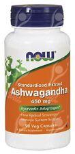 "Now Foods Ashwagandha 450mg x90Vcaps para Adrenal Fatiga - ""withania somnifera"""