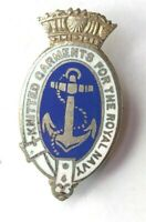 WW2 Knitted Garments For The Royal Navy enamel Badge. Home Front 3.3 x 1.8 cm's