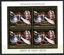 Centre Africaine 1986 Comète Halley Space Gold foil Or Michel 1247 A Cote 60 e