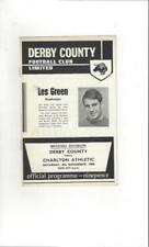 Away Teams C-E Charlton Athletic Football League Fixture Programmes (1958-1969)