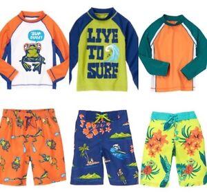 Gymboree Swim Shop 5 6 8 Rash Guard Set U Pick Hawaiian Surf Orange Frog
