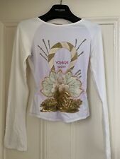 Voyage passion White Embroided Top Size S
