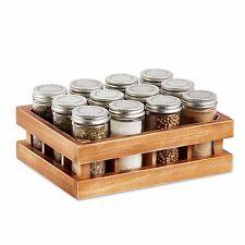 12 Jar Spice Rack Tray Home Kitchen Pantry Countertop Cabinet Storage Organizer
