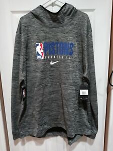 RARE NIKE Detroit Pistons NBA AUTHENTIC Player TEAM ISSUE Showtime Hoodie Sz 2XL