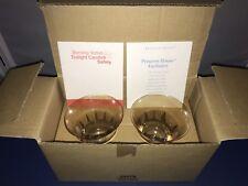 Princess House 2 Glass Votives Item #5407B Light Amber Glass NIB