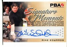 2008 Heroes and Legends Bowling Autographs Signature Moments - Mike Edwards