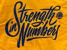 Shirt Strength In Numbers Golden State Warriors Pelicans 5/8/18 Brand New SGA XL