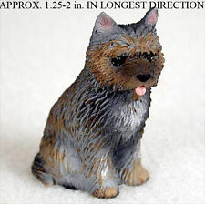 Cairn Terrier Mini Resin Dog Figurine Statue Hand Painted Brindle