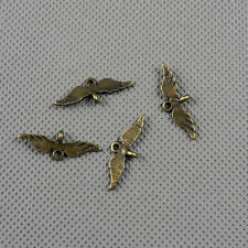 6x Jewelry Making Pendant Vintage Findings Charms Clasp A10987 Wing Connector