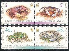 Cocos(Keeling)Islands 2000 WWF Crabs 2x2v s/t set :s478