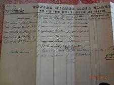 1842 US Mail Coach Boston MA 9 X 14 Groton CT Keene NH Way Bill