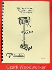 """ROCKWELL-DELTA 20"""" Drill Press Operators Parts Manual 0641"""