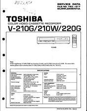 Toshiba Original  Service Manual für V-210G/210W/220G