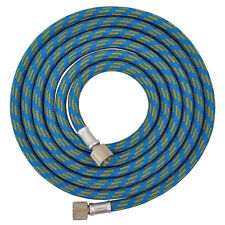 """New 6' BRAIDED AIRBRUSH AIR HOSE 1/8"""" Fitting Ends Fits Iwata Master Compressor"""