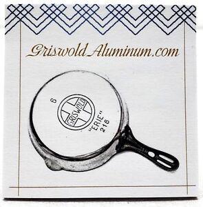Griswold Aluminum .com Sticky Note + Pen Set Erie Aluminum Cast Cookware Iron