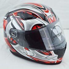 Vega - Ultra DOT Racing Helmet - Full Face Karting Moto Street - Red X-Large