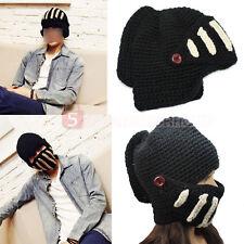 Cappello Maschera Berretto a Maglia LANA Uomo Donna Sottocasco Nero Inverno
