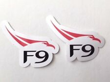 2x SpaceX F9 Falcon Logo Car Bumper Laptop Phone Vinyl Die Cut Sticker Decal