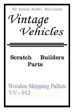 Ho Vintage Vehicle Wooden Shipping Pallets, Jordan Highway Miniatures Style