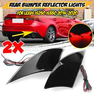 For Lexus IS250 IS350 IS-F 2014-2020 SMD LED Rear Smoke Bumper Stop Brake Lights