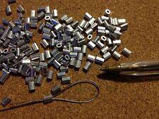 20x ALLUMINIO OVALE puntali per 0.5 mm una fune in acciaio inox Rigging